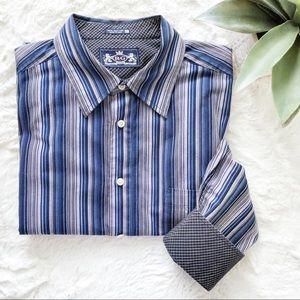 R & G Robert Graham Stripe Flip Cuff Dress Shirt